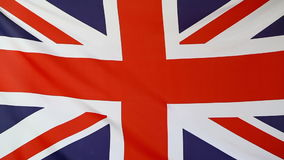 United Kingdom flag. Fabric flag of United Kingdom moving in the wind stock footage