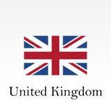 United Kingdom flag. Great Britain national symbol. British flag. Vector illustration Royalty Free Stock Photos