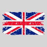 United kingdom flag grunge texture stamp Royalty Free Stock Photography