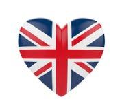 United Kingdom Flag Heart Stock Photos