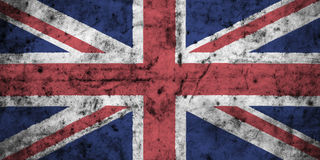 United kingdom flag with high detail of old dirty crumpled paper . 3D illustration. United kingdom flag with high detail of old dirty crumpled paper . 3D royalty free illustration