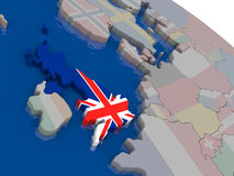 United Kingdom with flag Stock Images