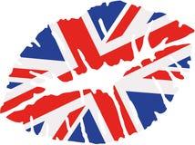 United Kingdom flag kiss. Vector Stock Photo