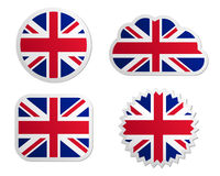 United Kingdom flag labels Royalty Free Stock Photography