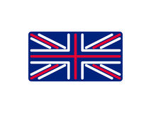 United Kingdom flag linear style. Sign Britain. National Symbol.  Royalty Free Stock Photos