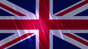 United Kingdom Flag Loopable Background. Ultra HD, 3840x2160 Pixels, Seamlessly Loopable Flag Animation stock video