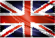 United Kingdom flag mosaic. United Kingdom official flag mosaic stock illustration