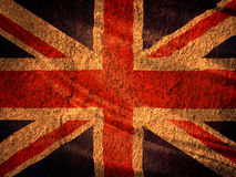 United Kingdom flag on old brick wall Royalty Free Stock Image