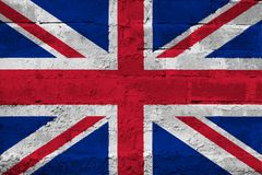 United Kingdom FLAG PAINTED ON BRICK WALL cool. United Kingdom FLAG PAINTED ON BRICK WALL Royalty Free Stock Photography