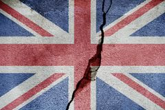 United Kingdom   FLAG PAINTED ON CRACKED WALL NICE Stock Photos