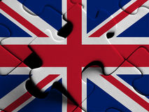 United Kingdom  FLAG PAINTED ON PUZZLE nice Stock Image