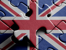 United Kingdom FLAG PAINTED ON PUZZLE nice Stock Photos