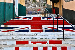 United Kingdom Flag. Painted on stairs in Gibraltar Stock Photography