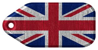 United Kingdom Flag. Painted on wood tag Royalty Free Stock Photography