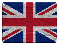 United Kingdom Flag. Painted on wood tag Royalty Free Stock Photo