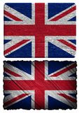 Usa flag. United Kingdom Flag painted on wood tag Royalty Free Stock Photography