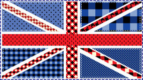 United Kingdom Flag, patchwork Royalty Free Stock Photography
