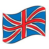 United Kingdom flag pencil drawing stock photography