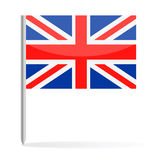 United Kingdom Flag Pin Vector Icon Stock Image