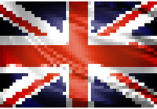 United Kingdom flag pixel. United Kingdom official flag pixel art vector illustration