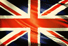 United Kingdom flag popart Stock Images