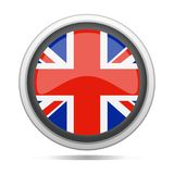 United Kingdom Flag Round Metal Symbol Design City Vector Art Royalty Free Stock Photo