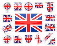 United Kingdom Flag Vector Set Royalty Free Stock Photos