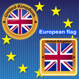 United Kingdom flag. Flag  symbol  illustration  uk  kingdom  britain  england  united  nation  country Stock Image