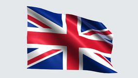 United Kingdom flag with transparent background. United Kingdom flag is waving on transparent background stock video