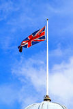 United Kingdom Flag. Union Jack British Flag at Flagpole Stock Photography