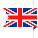 United Kingdom Flag Vector Bookmark Icon Stock Photography
