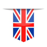 United Kingdom Flag Vector Bookmark Icon Royalty Free Stock Photo