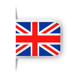 United Kingdom Flag Vector Bookmark Icon Stock Images