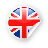 United Kingdom Flag Vector Round Corner Paper Icon Stock Photography