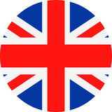 United Kingdom Flag Vector Round Flat Icon Royalty Free Stock Photos