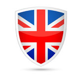 United Kingdom Flag Vector Shield Icon Stock Photos