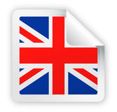 United Kingdom Flag Vector Square Corner Paper Icon Stock Images