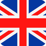 United Kingdom Flag Vector Square Flat Icon Royalty Free Stock Image