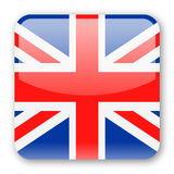 United Kingdom Flag Vector Square Icon Royalty Free Stock Photos