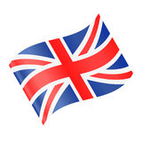 United Kingdom Flag Vector Waving Icon Royalty Free Stock Photo