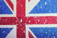 United Kingdom Flag with a vintage and old look. United Kingdom A flag with a vintage and old background can be used as a cover for wallpaper pamphlets or for a Royalty Free Stock Images