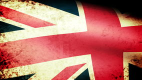 United Kingdom Flag Waving, grunge look stock video