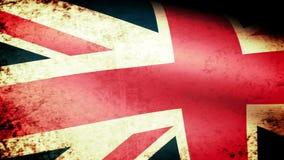 United Kingdom Flag Waving, grunge look. United Kingdom Flag Waving grunge look, video footage stock video