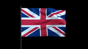 United Kingdom Flag Waving, Seamless Loop, stock footage stock footage
