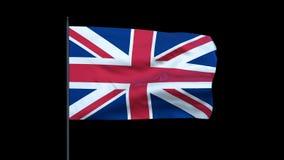United Kingdom Flag Waving, Seamless Loop, stock footage. Video stock footage