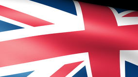 United Kingdom Flag Waving stock footage
