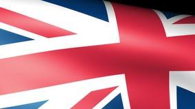 United Kingdom Flag Waving. Video footage stock footage