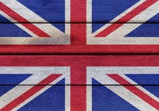 United Kingdom flag on a wood Royalty Free Stock Photo