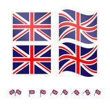 United Kingdom Flags Royalty Free Stock Image