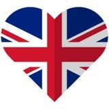 United Kingdom flat heart flag Stock Images